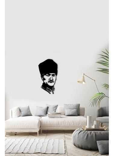 Angemiel Home Mustafa Kemal Atatürk Metal Duvar Tablosu Siyah